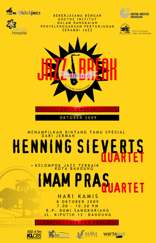 Poster Jazz Break Revival XV Kuning