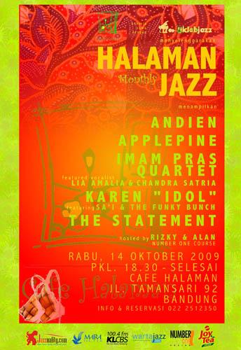 Poster Cafe Halaman Jazz edisi Oktober
