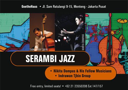 Poster Serambi Jazz Edisi Juni tampilkan Nikita Dompas - Indrawan Tjhin