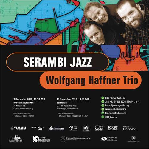 Poster Serambi Jazz Wolfgang Haffner Trio