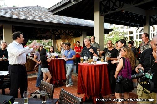 Cocktail Reception sebelum konser