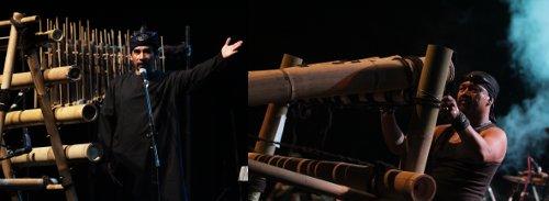 Alat musik bambu kontemporer (Grup Ozenk Percussion)