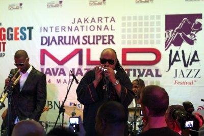 Stevie Wonder pada jam-session spontan malam sebelum konser