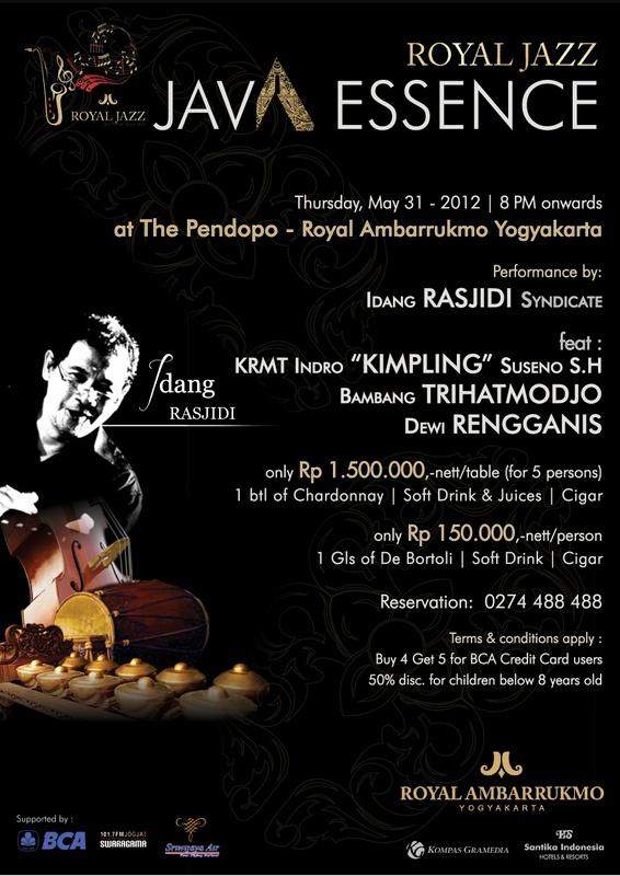 Photo of Java Essence Royal Jazz at The Pendopo Royal Ambarrukmo Yogyakarta