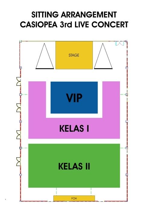 Seat arrangement - Casiopea 3rd live concert