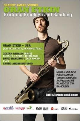 "Photo of 9 Oktober, Oran Etkin gelar konser ""Bridging Brooklyn and Bandung"" di Saung Angklung Udjo"