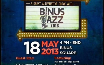 Jazz Urban Party, Pesta Jazz bagi Masyarakat di Binus Jazz 2013