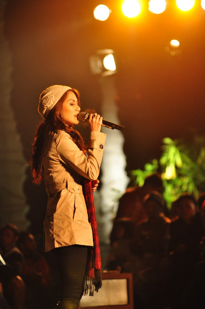 Sierra Soetedjo tampil di Jazz Gunung 2013 (photo : Iyori/WJ)