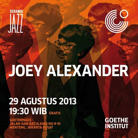 Photo of Joey Alexander hadir di Serambi Jazz Agustus 2013