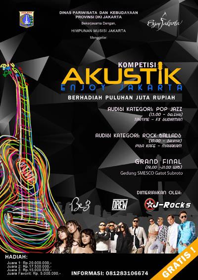 Photo of Dinas Pariwisata DKI Jakarta gelar kompetisi Akustik Enjoy Jakarta 2014