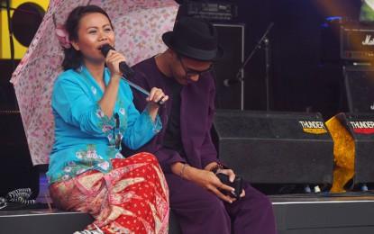 Lantun Orchestra, tetap atraktif meski diguyur hujan (Java Jazz Festival 2015)