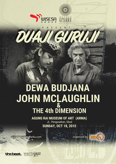 Konser Duaji Guruji Dewa Budjana dan John McLaughlin