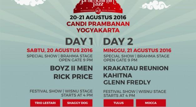 IndiHome Prambanan Jazz 2016 Akan Hadir Di Bulan Bulan Agustus