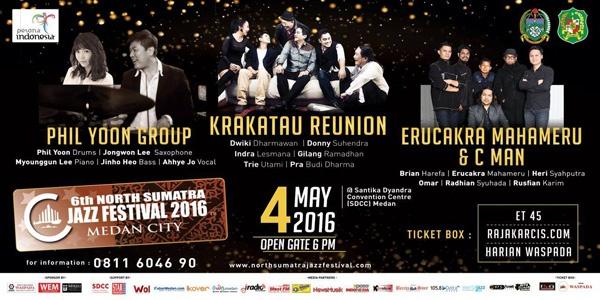 Photo of North Sumatra Jazz Festival 2016 hadirkan Krakatau Reunion, Jeff Lorber, Phil Yoon dan CMan