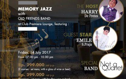 Memory Jazz hadirkan Emile S. Praja, Not a Quartet, Old Friends Band dan Harry de Fretes di Santika Premiere Hayam Wuruk