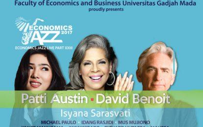 """Economics Jazz 23 sajikan """"Jazz Indah"""" Patti Austin & David Benoit di Kampus UGM Yogyakarta"""