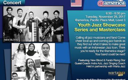 Youth Jazz Showcase Series November 2017: New Blood dan Farabi Rising Star plus Indra Aziz sebagai Guest Commentator