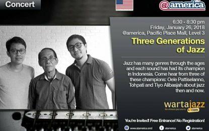 Saat Gitaris Jazz Indonesia dari 3 Generasi bertemu di @america