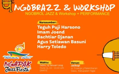 Ngobrazz Jazz di Slawi Kabupaten Tegal dalam rangka Ngapak Jazz Fiesta