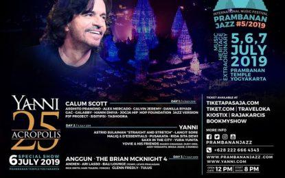 YANNI akan Tampil di Ajang Prambanan Jazz Festival 2019