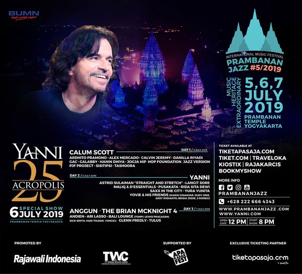 Photo of YANNI akan Tampil di Ajang Prambanan Jazz Festival 2019