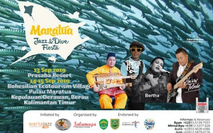 4th Maratua Jazz and Dive Fiesta persembahkan Bertha, Denny Frust dan Harry Toledo
