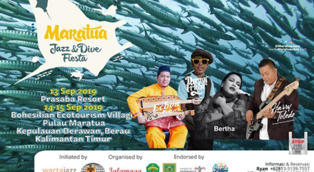 4th Maratua Jazz and Dive Fiesta persembahkan Bertha, Denny Frust dan Harry Toledo