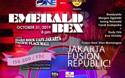 Jakarta Fusion Republic! dipimpin salahsatu ikon jazz fusion 80an, Emerald BEX