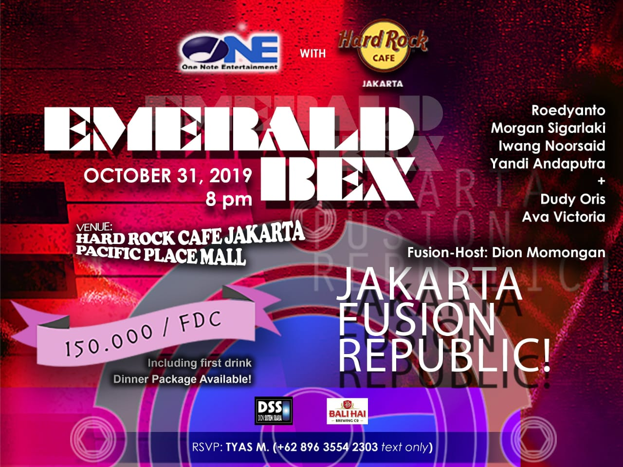 Photo of Jakarta Fusion Republic! dipimpin salahsatu ikon jazz fusion 80an, Emerald BEX
